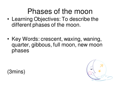 Phases of the moon lesson with worksheets by rcmcauley Teaching – Phases of the Moon Worksheets