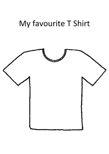 My Favorite T Shirt Template By Missbrooker Teaching