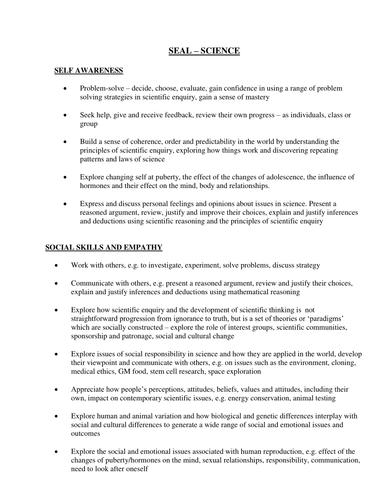 Science Framework