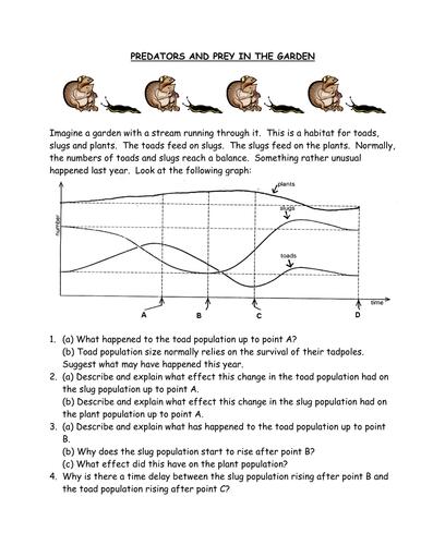 Predator Prey Handout By Bobfrazzle Teaching Resources