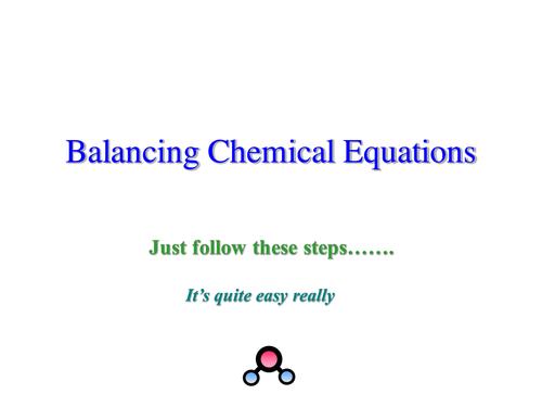 Balancing chemical equations presentation