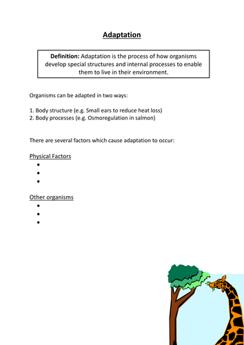 animal plant adaptations matching cards activity by jayahira uk teaching resources tes. Black Bedroom Furniture Sets. Home Design Ideas
