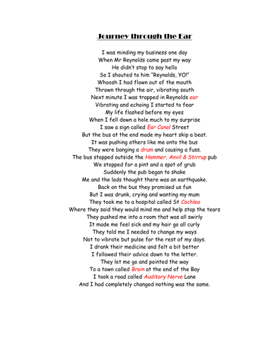 Parts of the Ear - Poem
