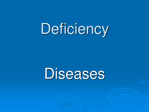deficiency disease