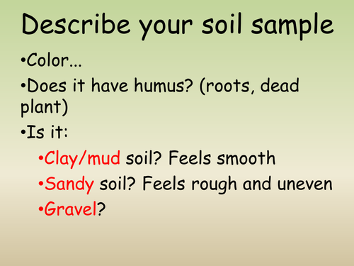 Types of soil clay sandy loam by makemegenius for What type of resource is soil