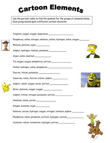 Elements Periodic Table Worksheet By Tami Lyn Teaching