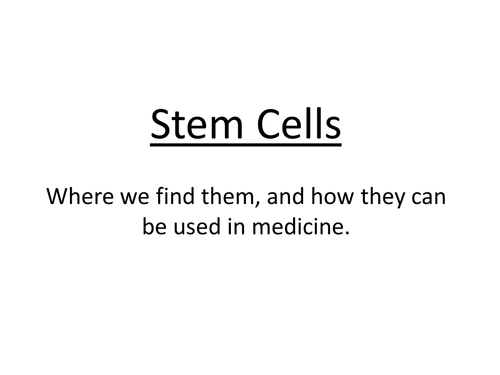 stem cell lecture notes Lecture 1: an introduction to cell biology •lecture notes will be posted the day before the lecture •stem cell research.