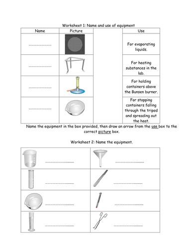 Worksheets Identifying Lab Equipment Worksheet identifying lab equipment worksheet pixelpaperskin worksheets by jimmylittlewing teaching resources tes