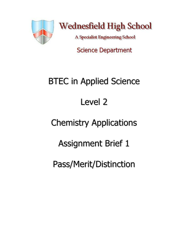 Chemistry assignment preparation