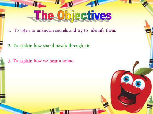 Fun way of introducing the Sound topic