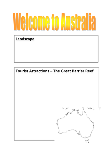 Australia fact sheet template by kayld | Teaching Resources