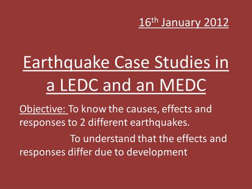 ledc earthquake case study