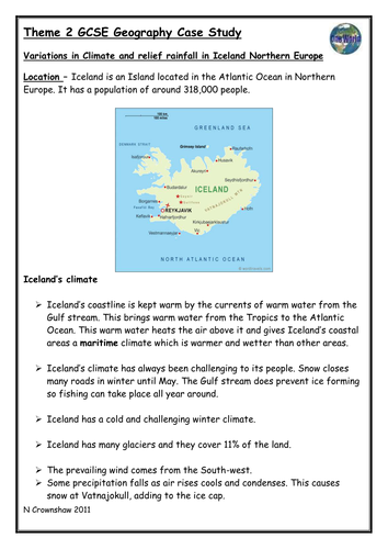 AQA GCSE GEOGRAPHY CASE STUDY REVISION BOOKLETS by teachgeogblog     Marked by Teachers