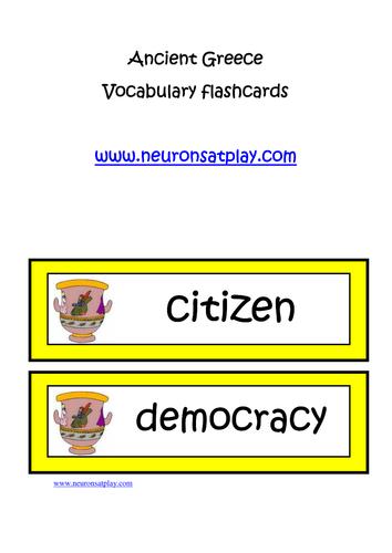 Ancient Greece Vocabulary Flashcards
