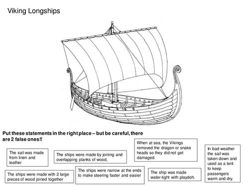 Viking boat worksheet by RJR_38 - Teaching Resources - Tes