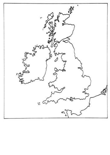 Katie Morag- simple map of British Isles