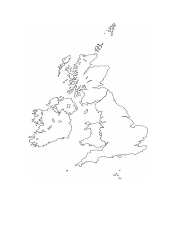 UK map outline by kittengirl  Teaching Resources  Tes