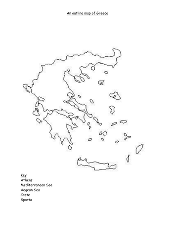 Worksheet Ancient Greece Map Blank maps of greece by vicky78 teaching resources tes