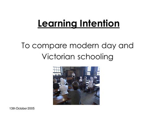 Education during the Victorian Times