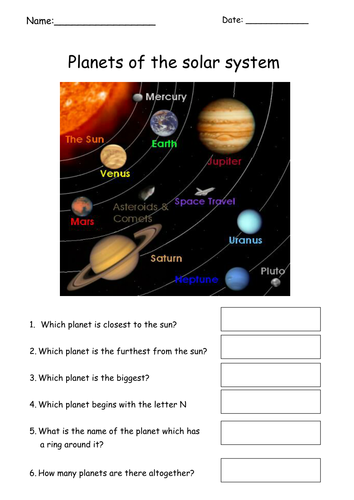 simple planets worksheet by tracey1981 teaching resources tes. Black Bedroom Furniture Sets. Home Design Ideas
