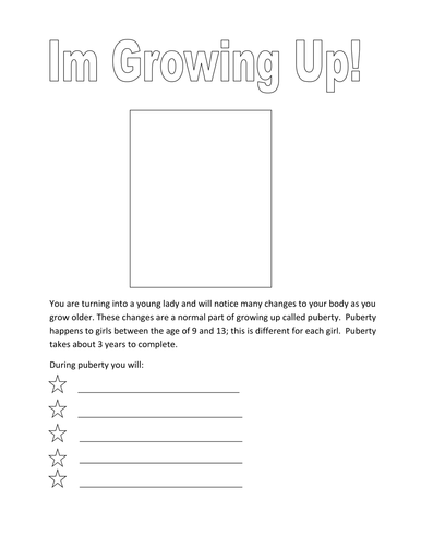 Simple Puberty Worksheets For Girls By Tracey1981 Teaching