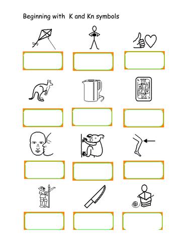 silent 39 k 39 followed by 39 n 39 kn worksheet by uk teaching resources tes. Black Bedroom Furniture Sets. Home Design Ideas