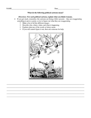 Interpreting Political Cartoons Worksheet : The political cartoon interactive notebook by malcomb