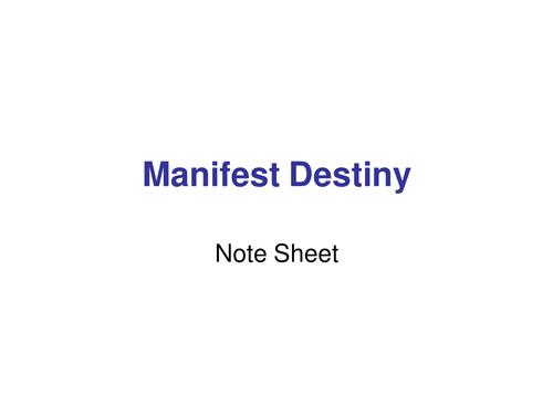 Manifest Destiny Unit Territory Expansion West By