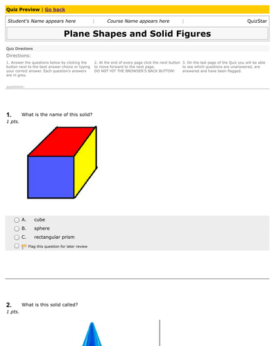 Solid Shapes Worksheet By Magicpathshala Teaching Resources Tes