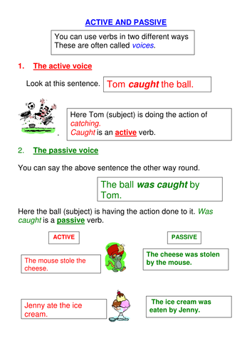 Introducing the Passive Voice