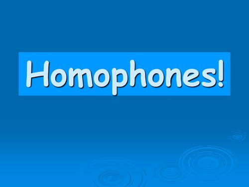 Homophones wrap up game