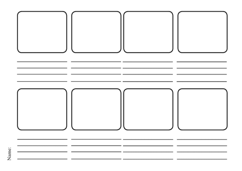 Blank 8 Box Storyboard By Nm74 Teaching Resources Tes