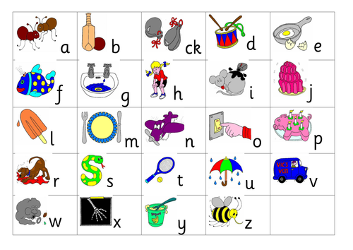 Jolly Phonics Phase 2 sounds and actions