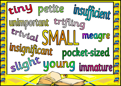synonyms for common adjectives a collection of posters with synonyms ...