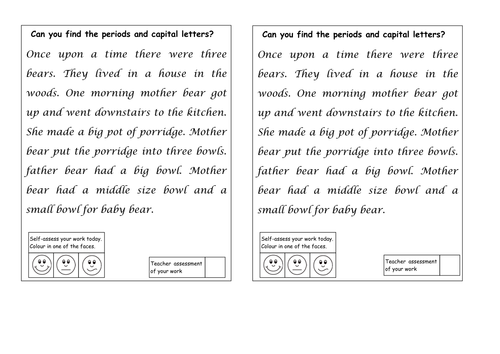 Full stops and capital letters detectives by ruthbentham – Capital Letter Worksheets