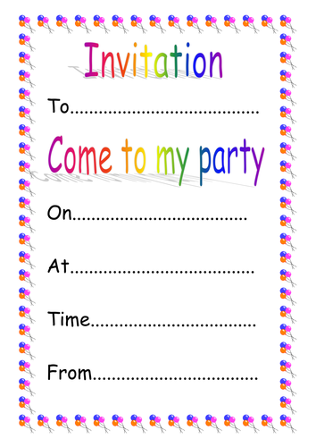 Writing an invitation ks1 writing an invitation ks1 invitation writing ks1 gallery invitation sample and invitation stopboris Image collections