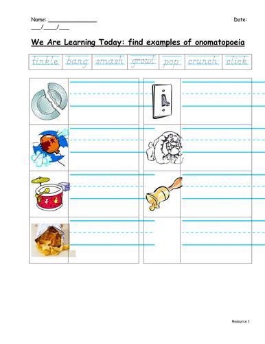 Onomatopoeia by f8f1 - Teaching Resources - TES