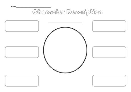 Printables Character Profile Worksheet template for character description by asharp22 teaching resources tes