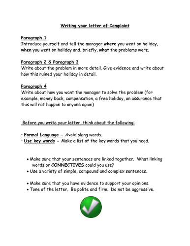 Complaint letters by sjb1987 teaching resources tes spiritdancerdesigns Choice Image