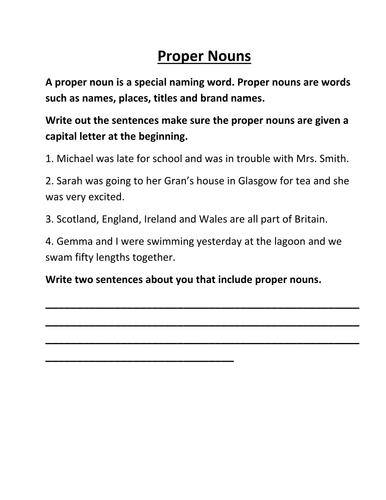 how to write a proper sentence