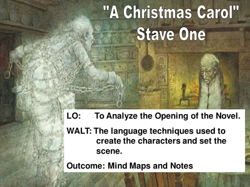 """Stave 1 Activities """"A Christmas Carol""""   Teaching Resources"""