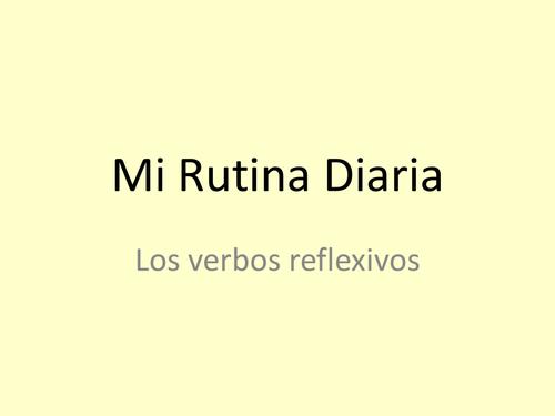 Mi Rutina Diaria - Reflexive verbs
