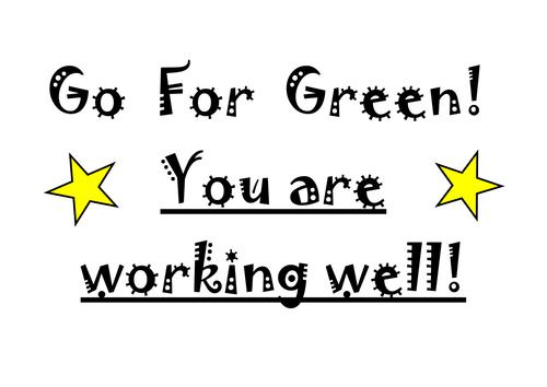 Go For Green Behaviour Management Chart
