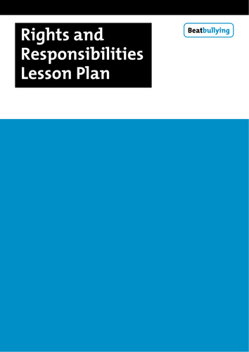 3rd grade to 5th grade lesson plan: Rights and Responsibilities by ...