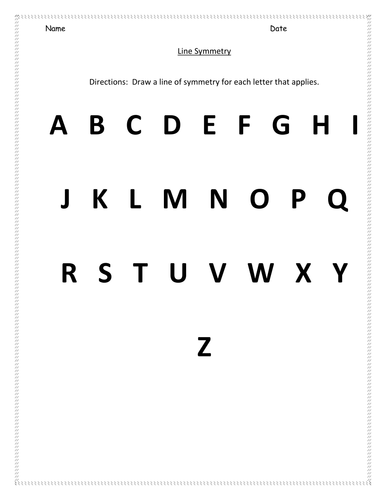 ks1 alphabet symmetry worksheet by hroberts999 teaching resources tes. Black Bedroom Furniture Sets. Home Design Ideas