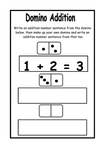 domino addition worksheets by bios444 uk teaching resources tes. Black Bedroom Furniture Sets. Home Design Ideas