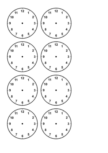 Blank Matching Worksheets : Time worksheet and snap pairs matching activity by