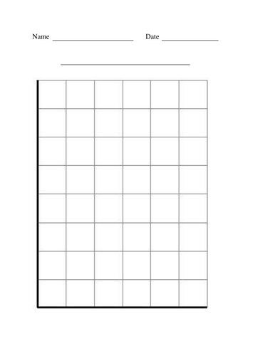 Blank Bar Graph For Kids