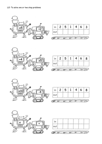 Worksheets Function Machine Worksheet sequence machines 1 step and 2 by isotope824 teaching resources tes