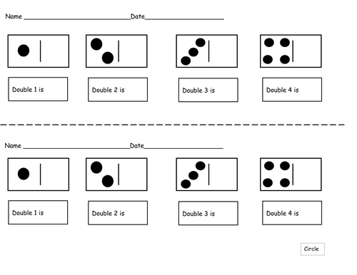 Doubling Worksheets by ruthbentham | Teaching Resources